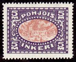 5M Second Issue 1922 Stamp North Ingria