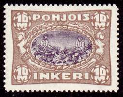 10M Second Issue 1922 Stamp North Ingria